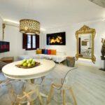 living room of short term apartment for rent near the alhambra Granada Spain