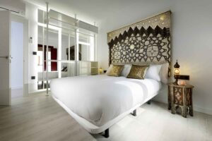 boutique bedroom with muslim decoration in new apartment for rent near alhambra