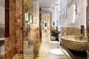 bathroom in high end short term apartment in the albaicin quarter, granada, spain