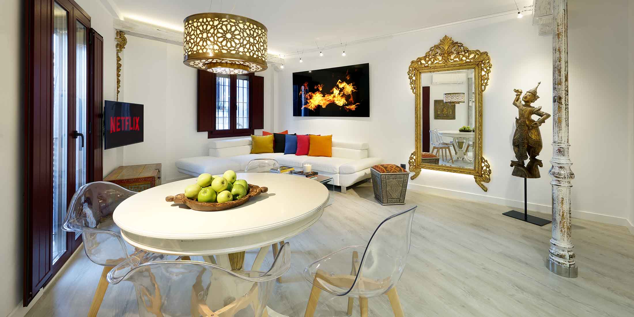 boutique airbnb apartment near alhambra in Granada Spain with fancy decoration