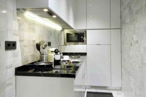 full kitchen in vacation rental in albaicin granada