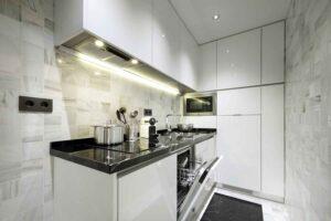 luxury kitchen in accommodation rental artchapiz Granada Spain