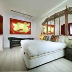 bedroom in boutique airbnb apartment in granada albaicin, art chapiz