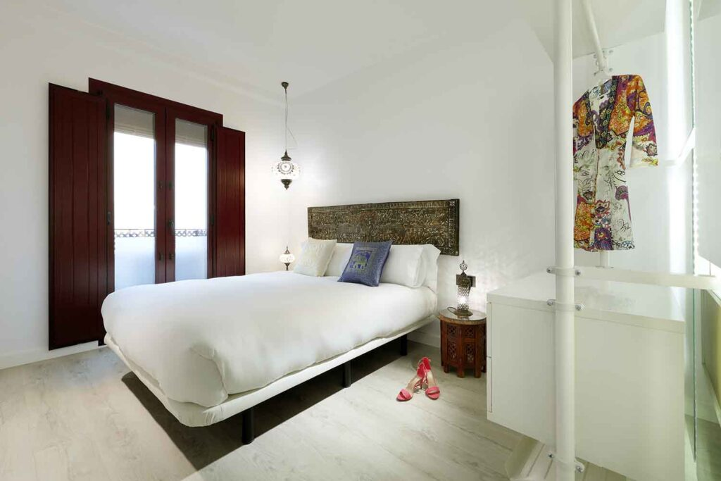 double bedroom in boutique apartment near the alhambra in Granada Spain