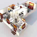 3d representation of short term apartment for rent in albaicin, near alhambra, spain