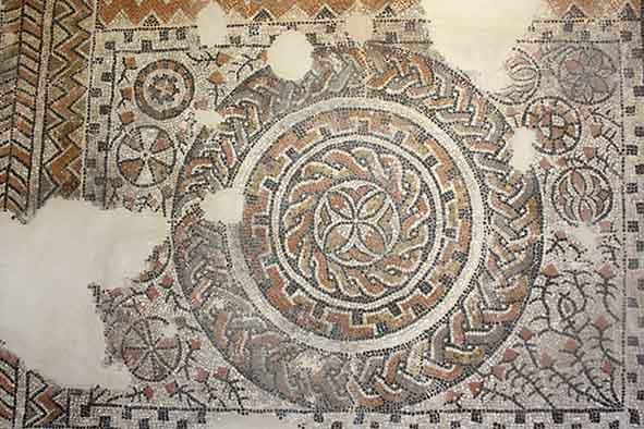 ancient roman mosaic at the archeological museum in the albaicin, granada, spain