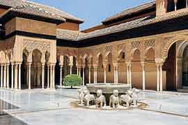 alhambra ticket court of the lions seen after purchase of alhambra tickets for the nasrid palaces, granada