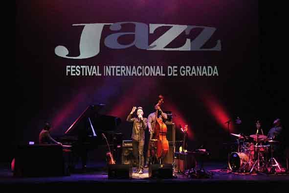jazz singer performing at the international jazz festival of granada, spain